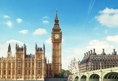 Big Ben in sunny day Stock Photos