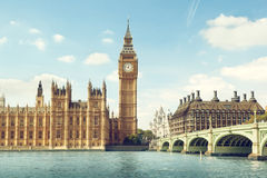 Big Ben in sunny day Stock Photo
