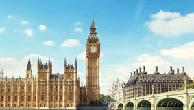 Big Ben in sunny day Royalty Free Stock Images