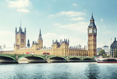 Big Ben in sunny day, London Royalty Free Stock Photos