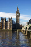 Big Ben in sunny day, London, Uk Royalty Free Stock Photography
