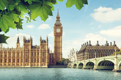 Big Ben in sunny day, London Stock Images