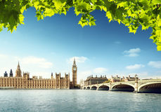 Big Ben in sunny day, London Royalty Free Stock Photo