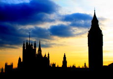 Big ben sunset Stock Photos
