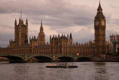 Big Ben at sunset London UK Stock Photos