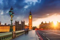 Big Ben at sunset, London Royalty Free Stock Photography