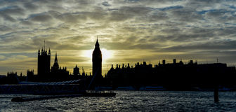 Big Ben during Sunset, London, UK Royalty Free Stock Images
