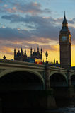 Big Ben at sunset Stock Photos