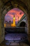 Big Ben after sunset Stock Image