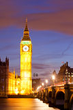 Big Ben sunset twilight Stock Photography