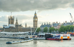Big Ben and surrounding buildings in London Stock Photos