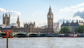 Big Ben and surrounding buildings in London Stock Images