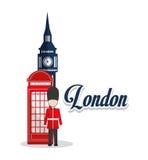 Big ben telephone and soldat design Royalty Free Stock Photos