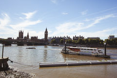 Big Ben and The Thames River Stock Photos