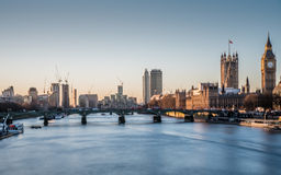 Big Ben and the thames at Sunrise Royalty Free Stock Images