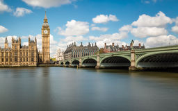 Big Ben, the Thames and Westminster Bridge Royalty Free Stock Photo