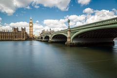 Big Ben, the Thames and Westminster Bridge Royalty Free Stock Image