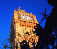 Big Ben. Tower with blue sky Stock Photo