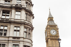 Big Ben tower and building in London city Royalty Free Stock Images