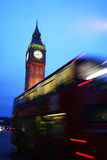 Big Ben Tower and bus, london Stock Photography