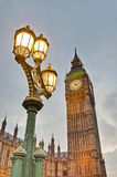 Big Ben tower clock at London, England Royalty Free Stock Images