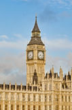 Big Ben tower clock at London, England. Big Ben tower clock on Houses of Parliament building at London, England Royalty Free Stock Image