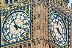 Big Ben tower clock at London, England Royalty Free Stock Photos
