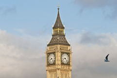 Big Ben tower clock at London, England Royalty Free Stock Photography