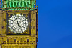 Big Ben tower clock at London, England. Big Ben tower clock on Houses of Parliament building at London, England stock photography