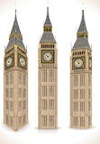 Big Ben Tower Isolated on White Royalty Free Stock Image