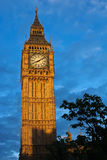 Big Ben Tower London. With sunlight and shadow Stock Photography