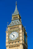 Big Ben Tower in London against blue sky.  Stock Image