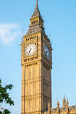Big Ben tower in London with blue sky UK England Royalty Free Stock Photos
