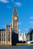 The Big Ben Tower in London on a clear day Royalty Free Stock Photo