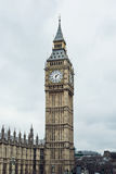 Big Ben tower in London. Big Ben with clock in London, UK Royalty Free Stock Images