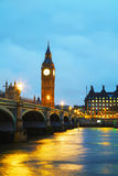 Big Ben tower in London. In the early morning Royalty Free Stock Image