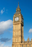 Big Ben tower in London on a sunny day Royalty Free Stock Photo