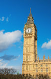 Big Ben tower in London on a sunny day Royalty Free Stock Image