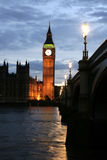 Big Ben Tower by Night stock photos