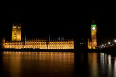 Big Ben Tower by night Royalty Free Stock Photo