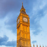 Big Ben tower at sunset. Big Ben tower in London Royalty Free Stock Photography