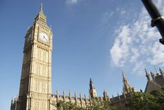 Big Ben towers majestically over London stock photo