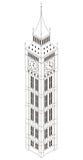 Big Ben-Turm, lokalisiert, isometrisch Stockbild