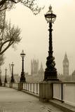 Big Ben u. Häuser von Parliamen Stockbilder
