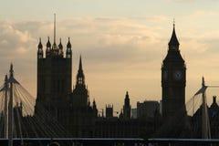 Big Ben und Häuser des Parlaments stockfoto