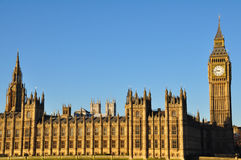 Big Ben und Häuser des Parlaments in London Lizenzfreie Stockfotografie