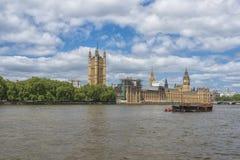 Big Ben und Häuser des Parlaments in London Lizenzfreies Stockfoto