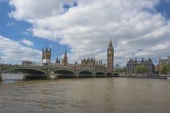 Big Ben und Häuser des Parlaments in London Lizenzfreie Stockfotos