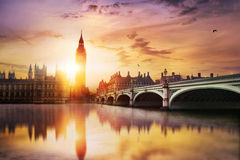 Big Ben und Haus des Parlaments Lizenzfreie Stockfotos