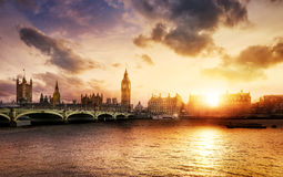 Big Ben und Haus des Parlaments Stockfotos